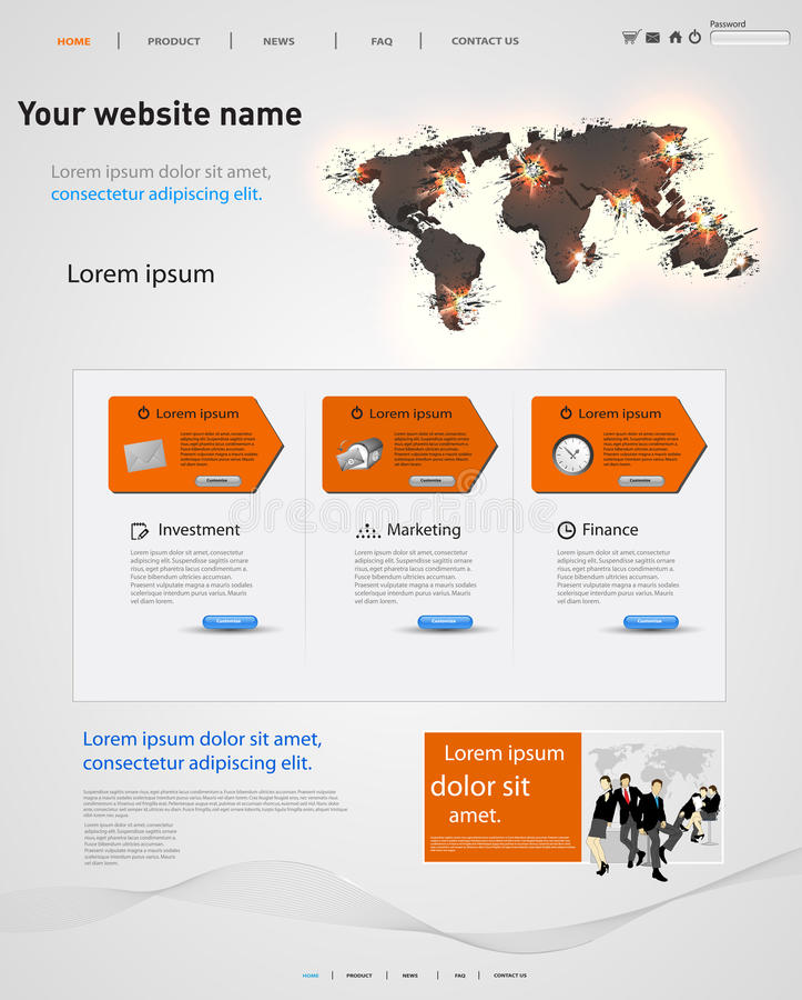 Molde do projeto de Web ilustração do vetor