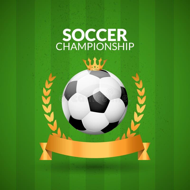 Molde Do Projeto Do Emblema Do Campeonato Do Futebol
