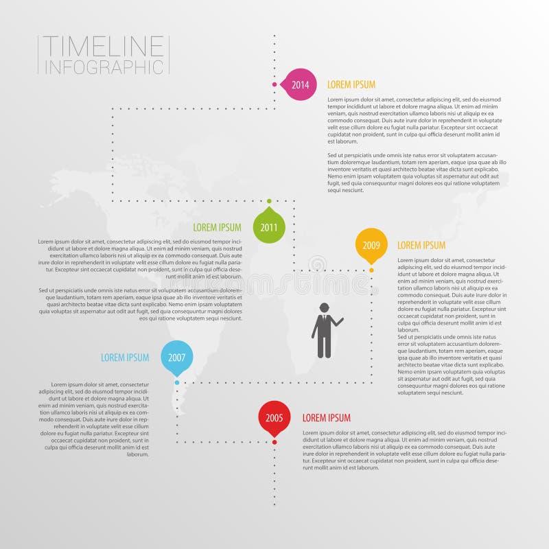Molde do projeto do infographics do espaço temporal de Minimalistic ilustração royalty free