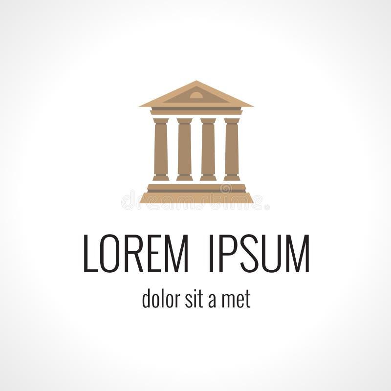 Molde do projeto do logotipo do advogado Justiça Palace ilustração royalty free