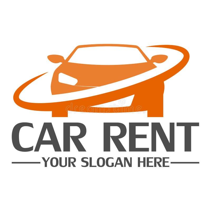 Molde do projeto do logotipo do aluguel do carro ilustração royalty free