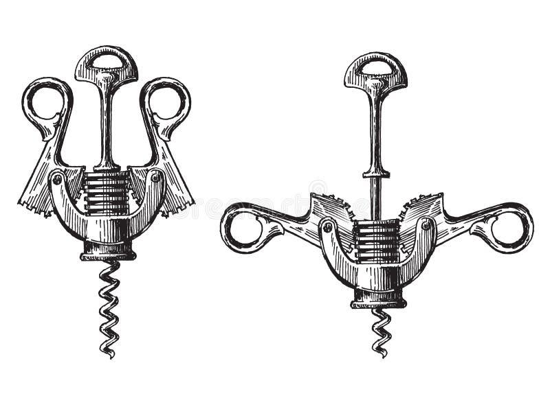 Molde do projeto do logotipo do vetor do metal do Corkscrew ilustração do vetor