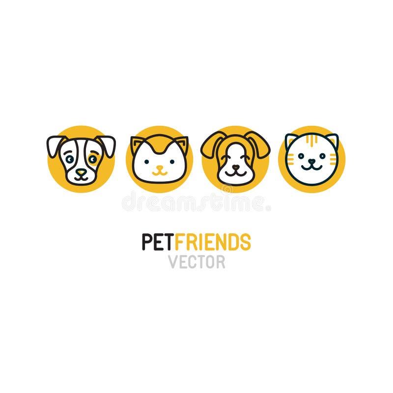 Molde do projeto do logotipo do vetor para lojas de animais de estimação ilustração stock