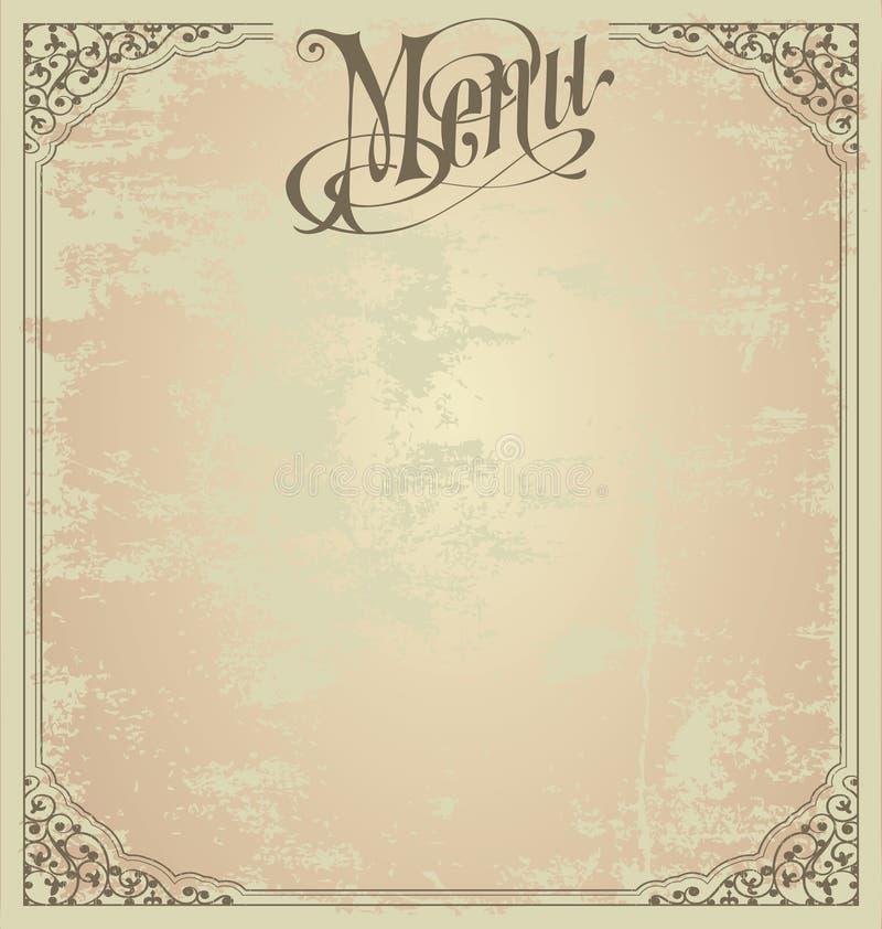 Molde do projeto do menu ilustração royalty free