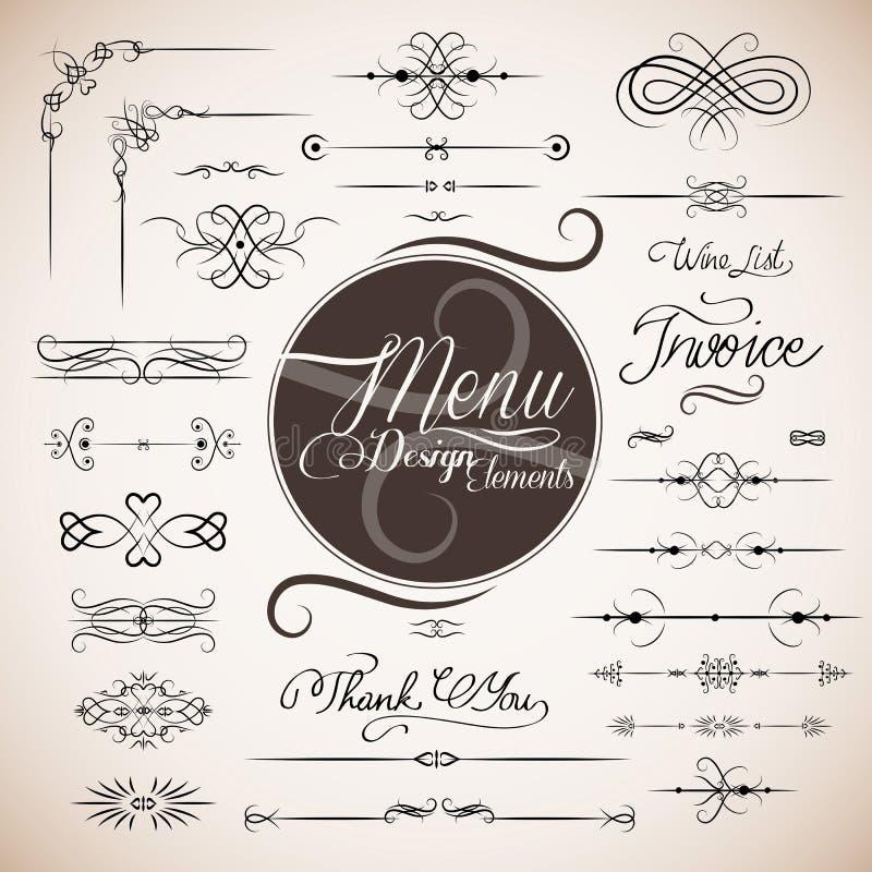Molde do projeto do menu do restaurante ilustração do vetor