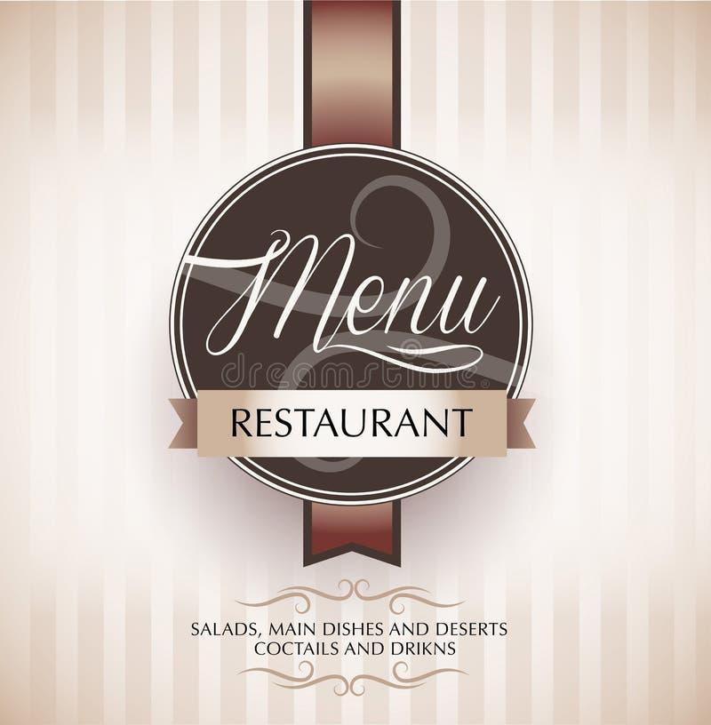 Molde do projeto do menu do restaurante ilustração royalty free