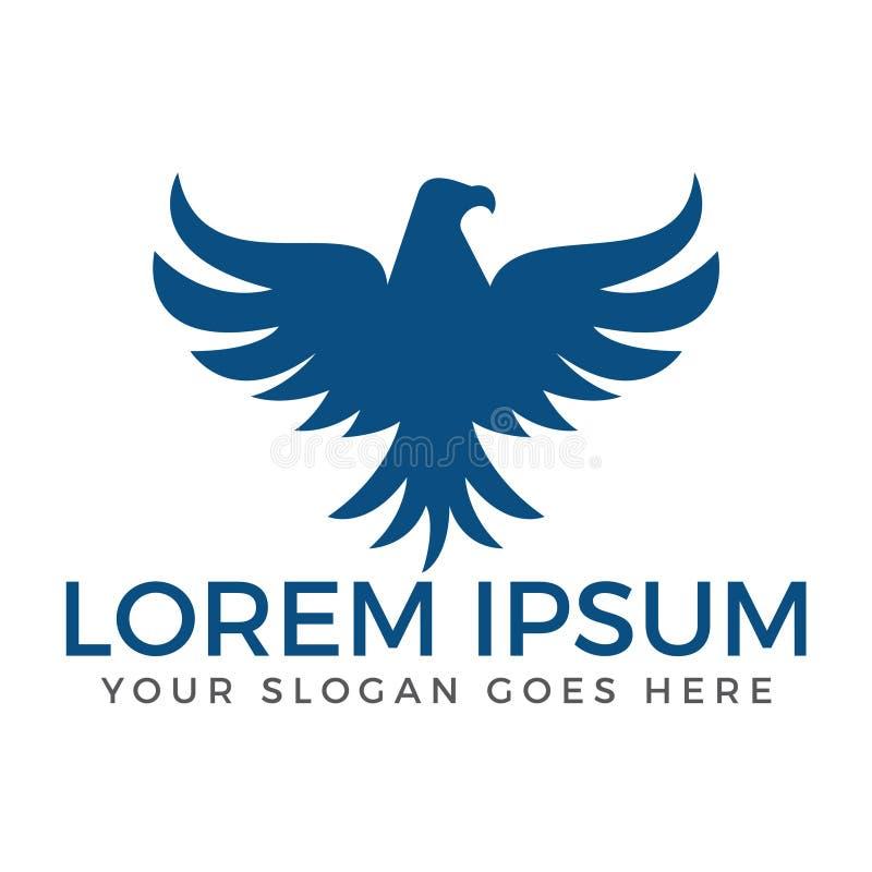 Molde do projeto do sumário de Eagle ou de Hawk Bird Logo ilustração royalty free