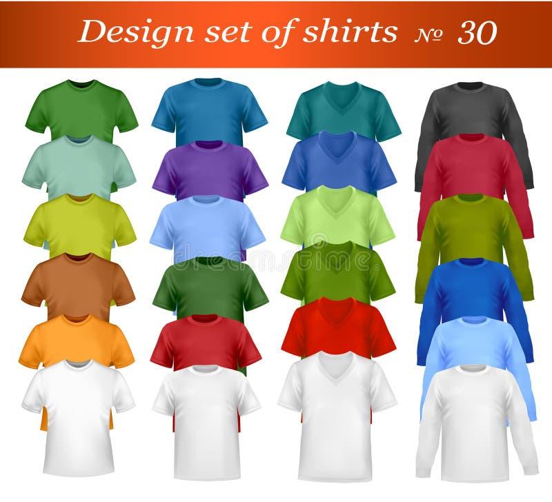 Molde do projeto do t-shirt da cor. Vetor. ilustração stock