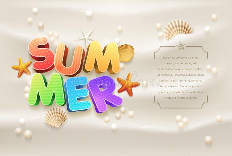 Molde do projeto do verão ilustração do vetor
