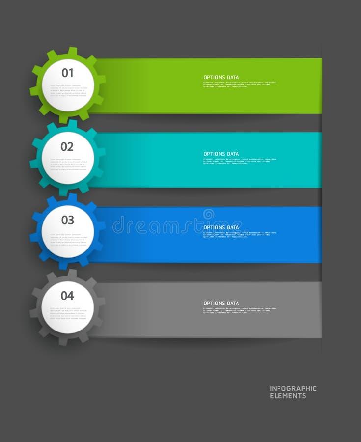 Molde do projeto do vetor de Infographics ilustração royalty free