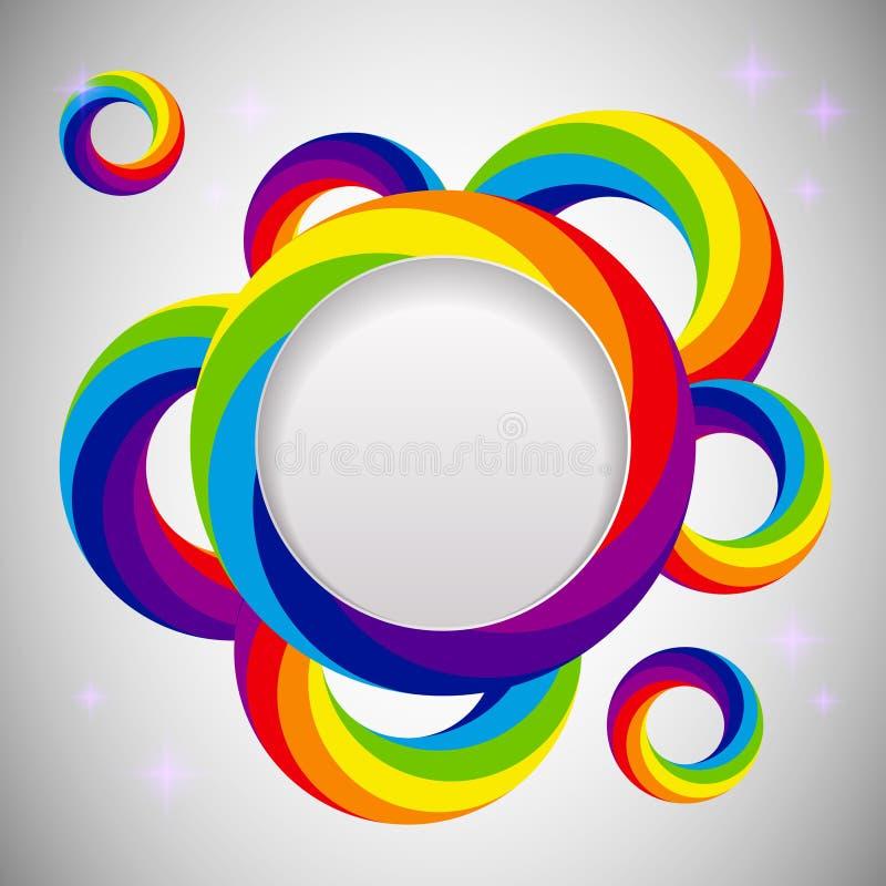 Molde do projeto do vetor do arco-íris ilustração stock