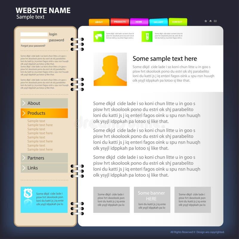 Molde do projeto do Web site. ilustração do vetor