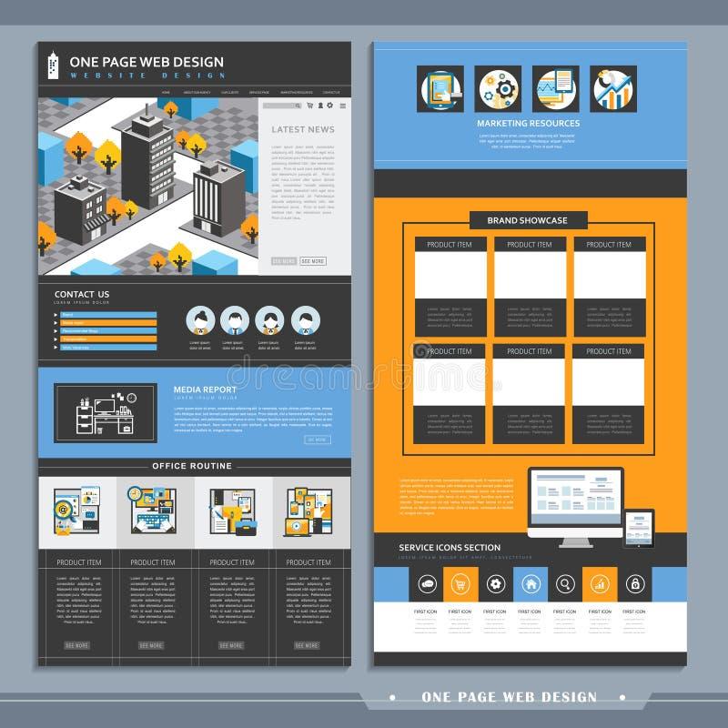 Molde do projeto do Web site da página da arquitetura da cidade uma ilustração do vetor