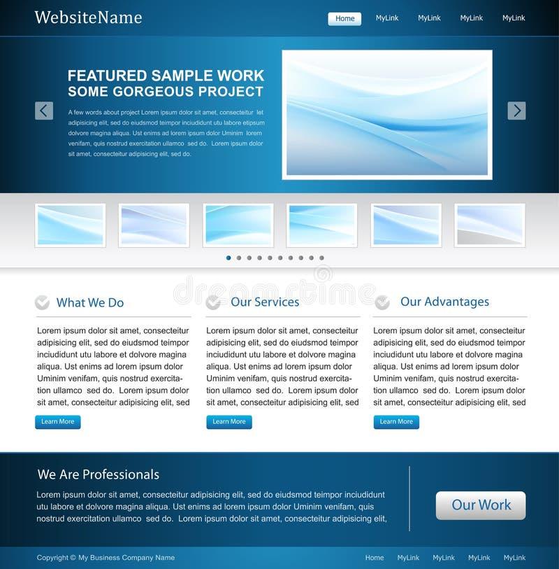 Molde do projeto do Web site do negócio ilustração royalty free