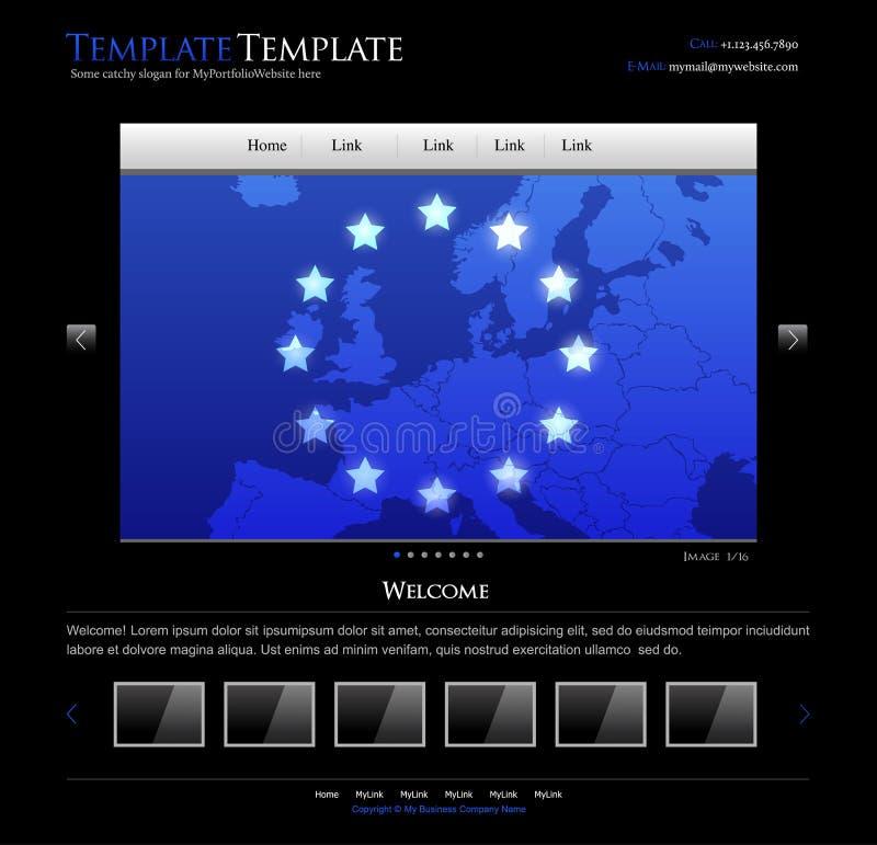 Molde do projeto do Web site do negócio - disposição editable ilustração do vetor