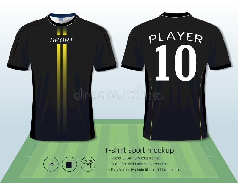 Molde do projeto do esporte do t-shirt para o clube do futebol ou todo o sportswear ilustração royalty free
