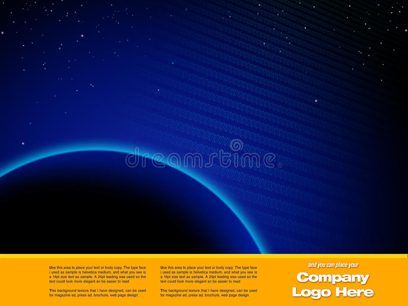 Molde do projeto gráfico do espaço ilustração stock