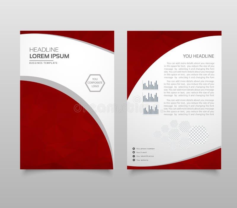 Molde do projeto a4 do inseto do folheto do negócio com estilo poligonal ilustração stock