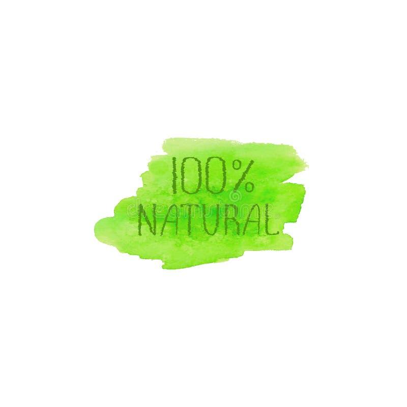 Molde do projeto do logotipo do conceito de produtos naturais ilustração royalty free
