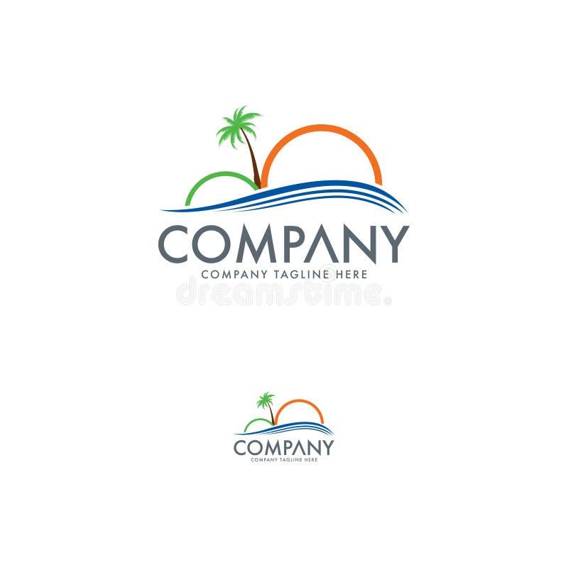 Molde do projeto do logotipo do curso e do turismo ilustração stock
