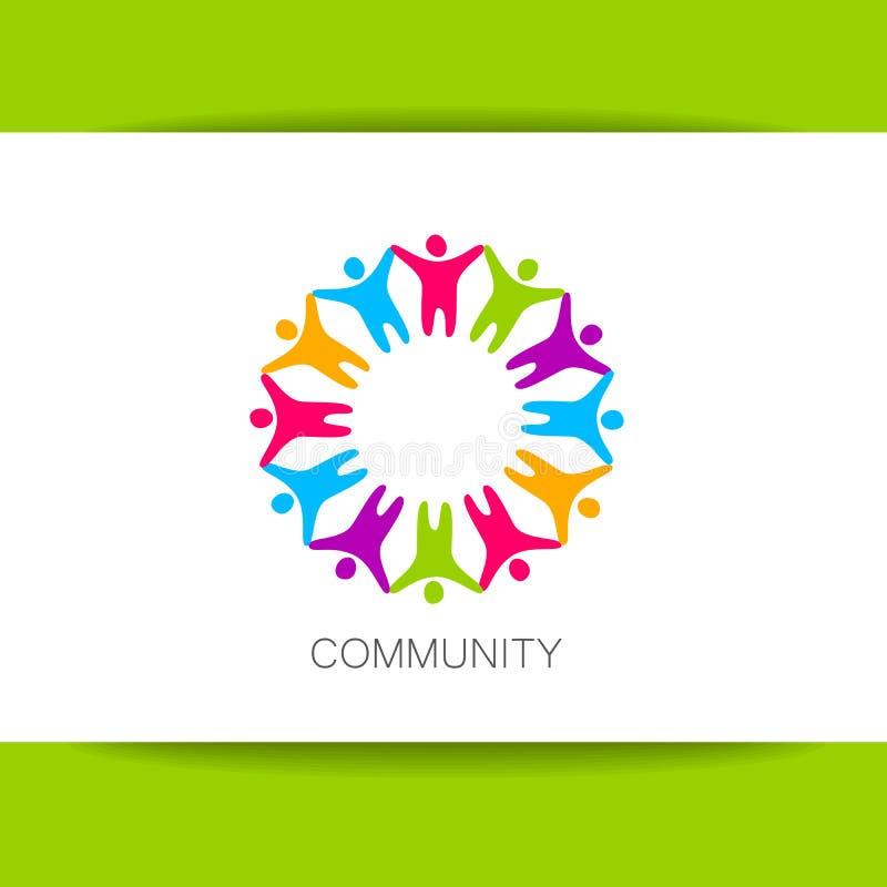 Molde do projeto do logotipo da comunidade ilustração do vetor