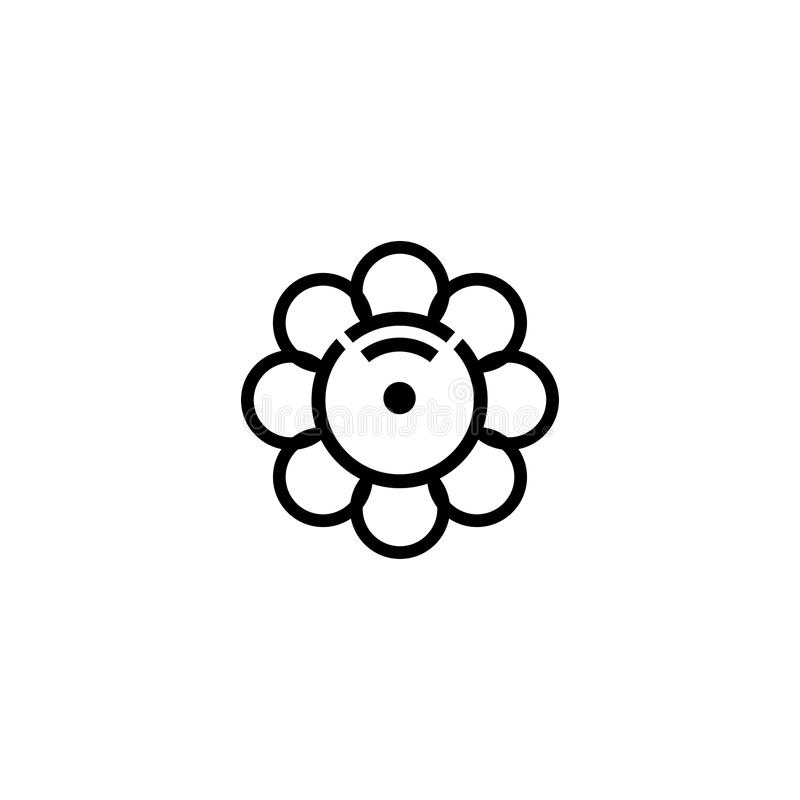 Molde do projeto do logotipo do Internet da flor foto de stock