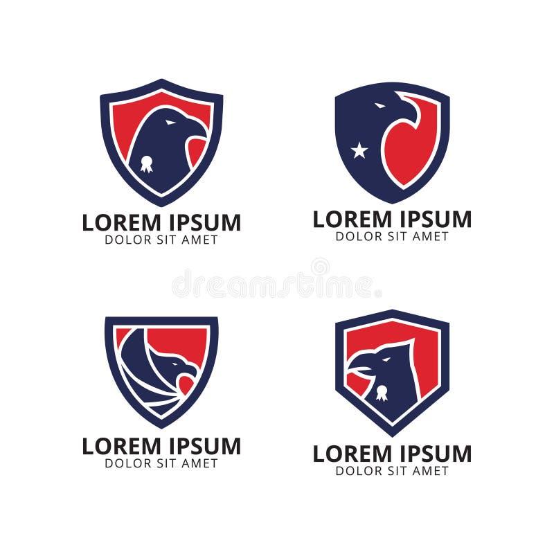 Molde do projeto do logotipo do protetor de Eagle ilustração royalty free