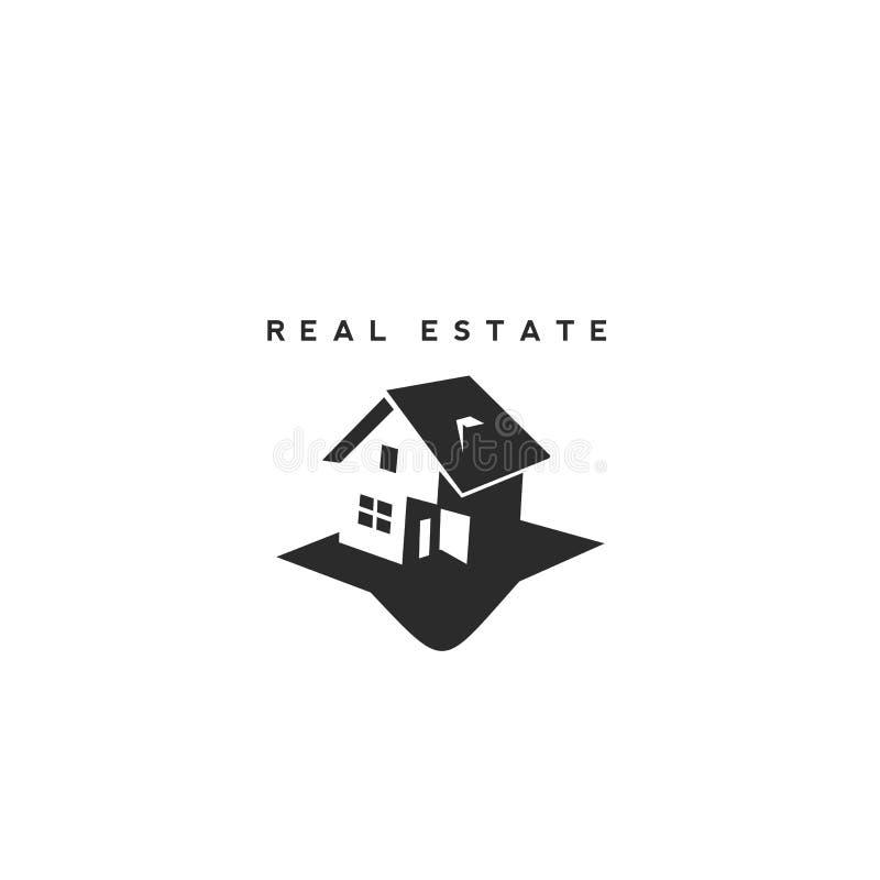 Molde do projeto do logotipo do vetor dos bens imobiliários ilustração do vetor