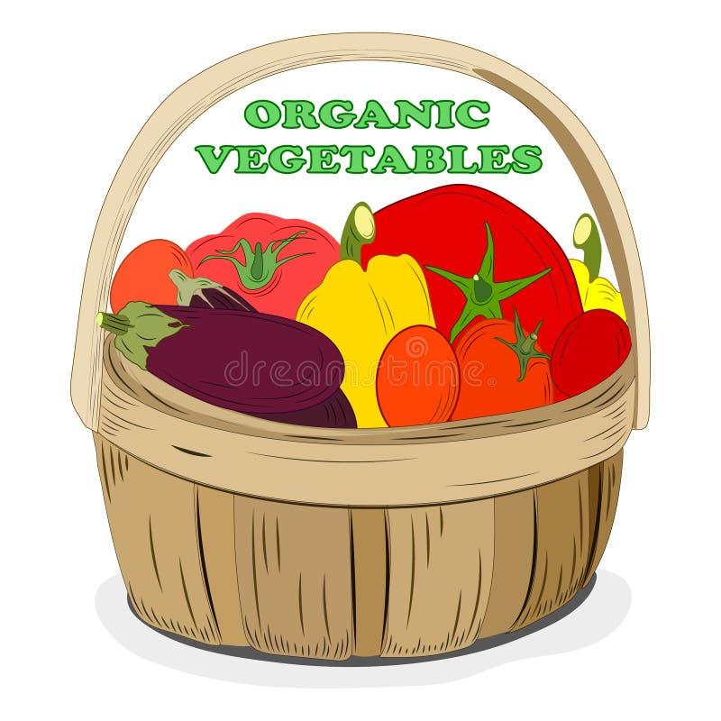 Molde do projeto para o mercado dos vegetais Etiqueta do menu com alimento biológico Legumes frescos desenhados à mão Ilustra??o ilustração do vetor