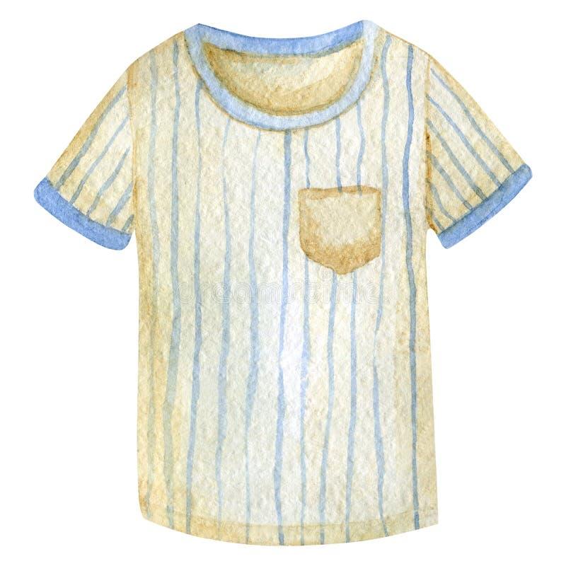 Molde do projeto do t-shirt da aquarela Esboço do Watercolour ilustração do vetor