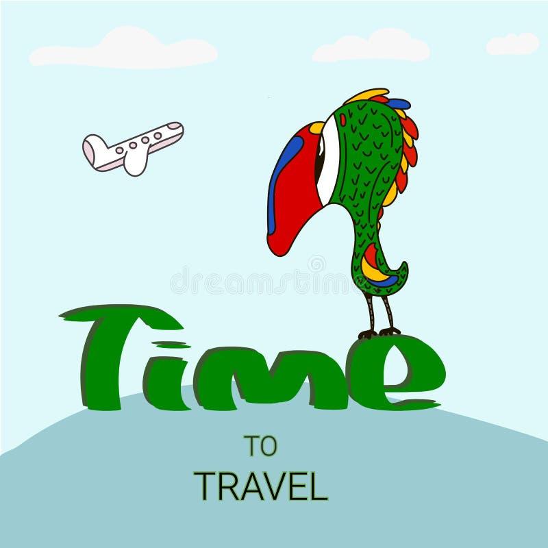 Molde do projeto do vetor do cartaz do curso com texto do promo e atrações mundialmente famosas e elementos dos destinos do turis ilustração do vetor