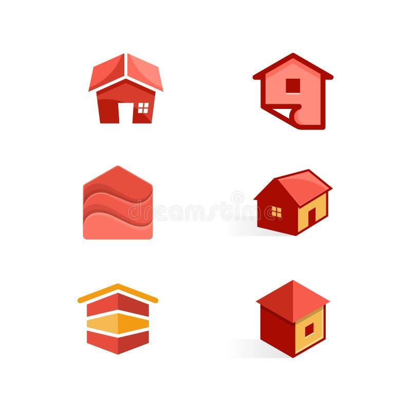 Molde do projeto do vetor da ilustração do conceito da cor da casa ilustração do vetor