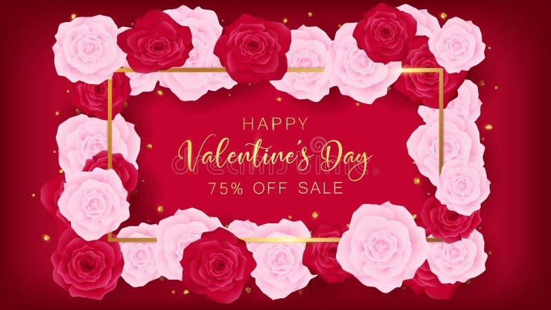 Molde do quadrado do dia do ` s do Valentim do amor da vista superior ilustração do vetor