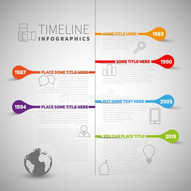 Molde do relatório do espaço temporal de Infographic com empresa ou vida a mais milest ilustração royalty free