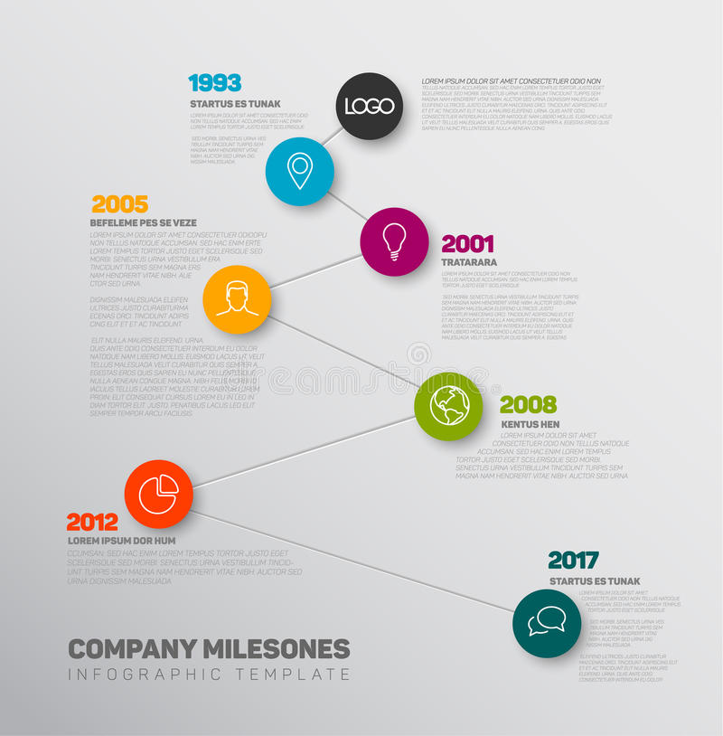 Molde do relatório do espaço temporal de Infographic do vetor ilustração do vetor
