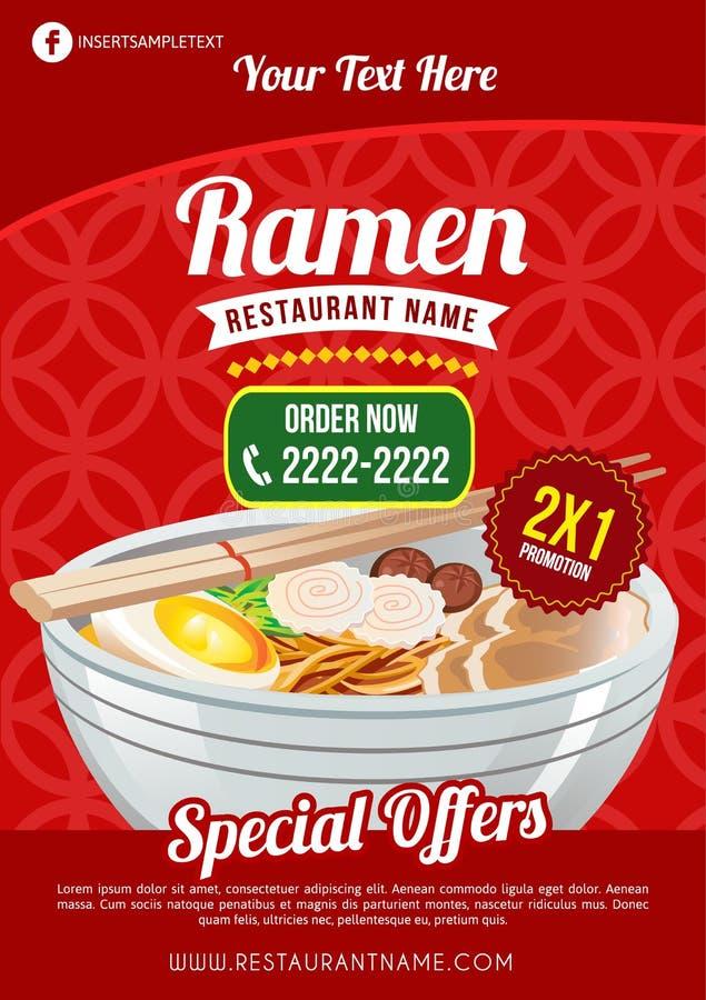 Molde do restaurante dos Ramen ilustração stock