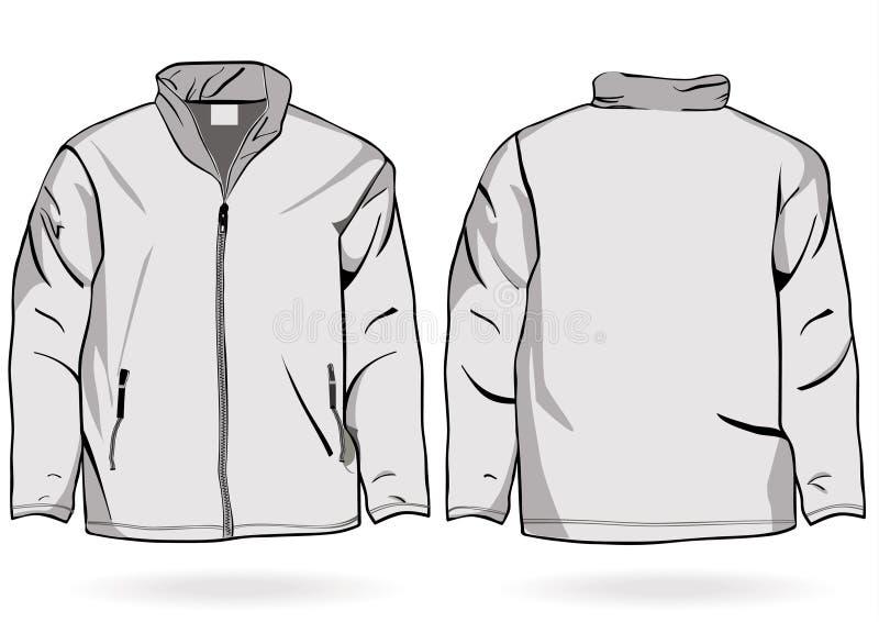 Molde do revestimento ou da camisola dos homens com zipper ilustração stock