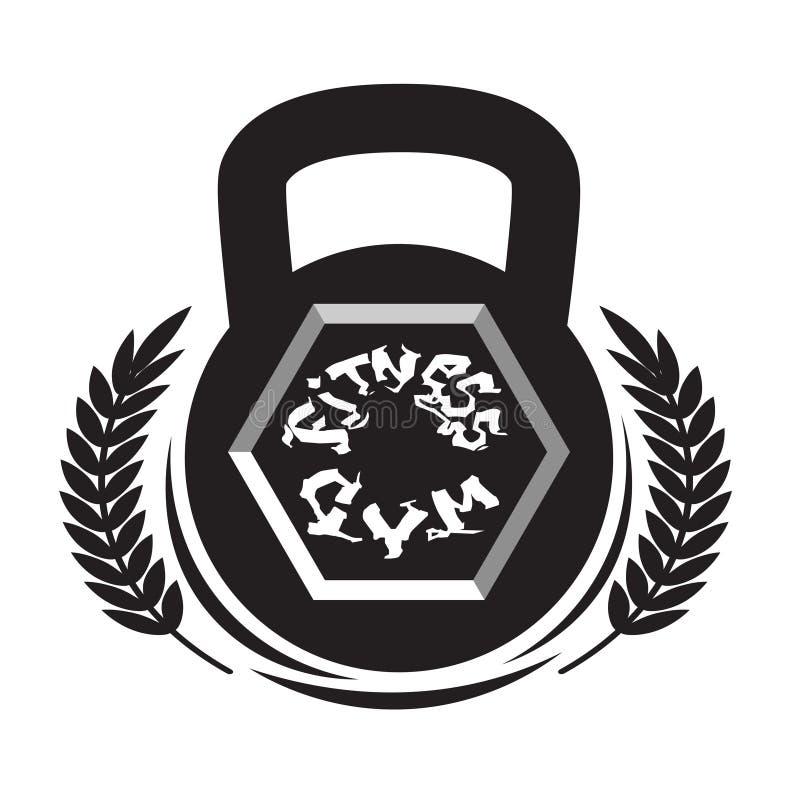 Molde do sinal de Logo Modern Sport Gym Club do fitness center isolado no fundo branco ilustração do vetor