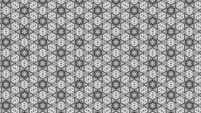 Molde do teste padrão de Gray Decorative Floral Ornament Background ilustração do vetor