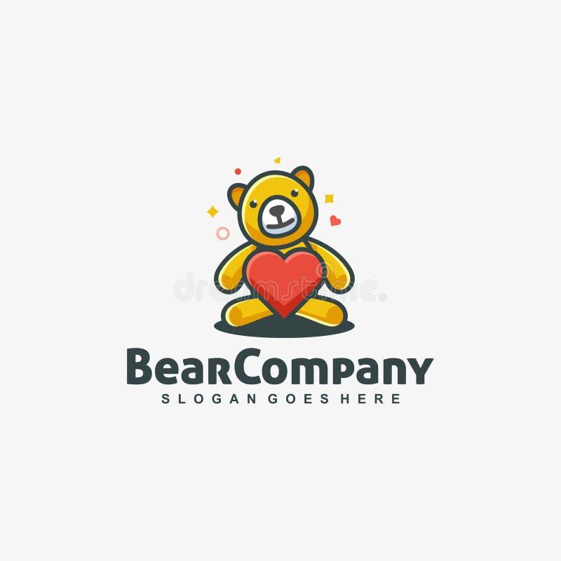 Molde do vetor do amor da boneca do urso ilustração stock