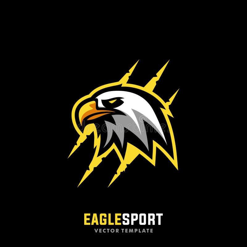 Molde do vetor da ilustração de Eagle Sport Concept Designs ilustração stock