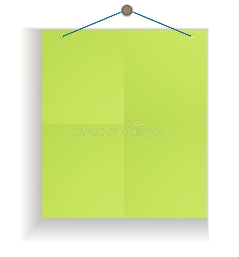 Molde do vetor de uma folha de papel fotografia de stock royalty free