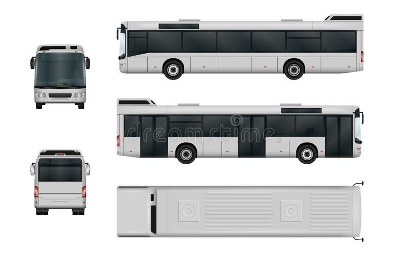 Molde do vetor do ônibus da cidade ilustração do vetor