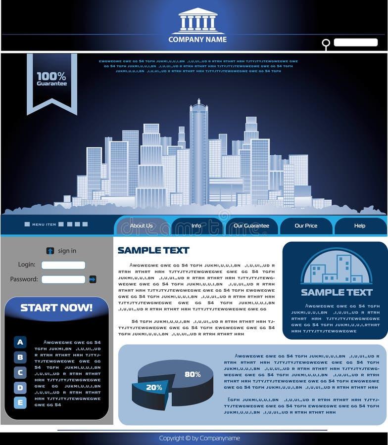 Molde do vetor do Web site ilustração do vetor