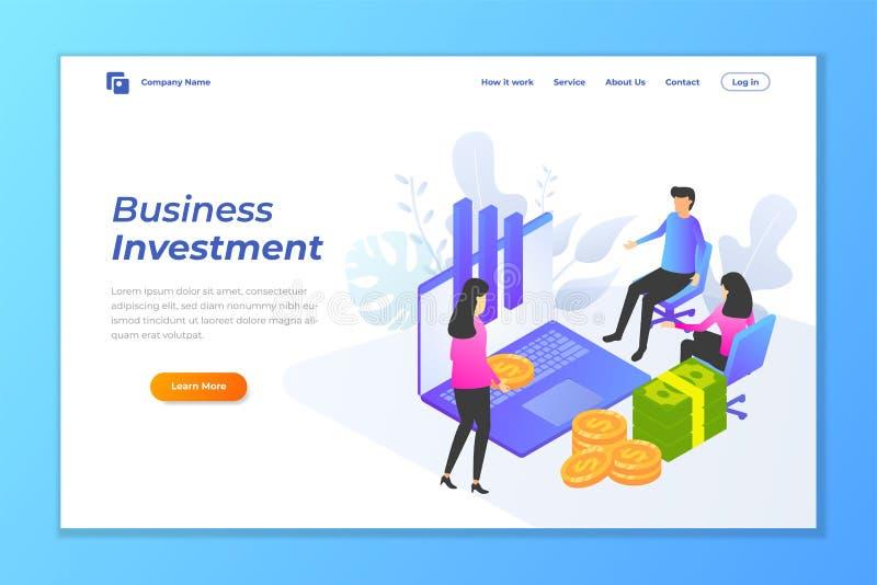 molde do vetor do fundo da bandeira da Web do investimento empresarial ilustração stock