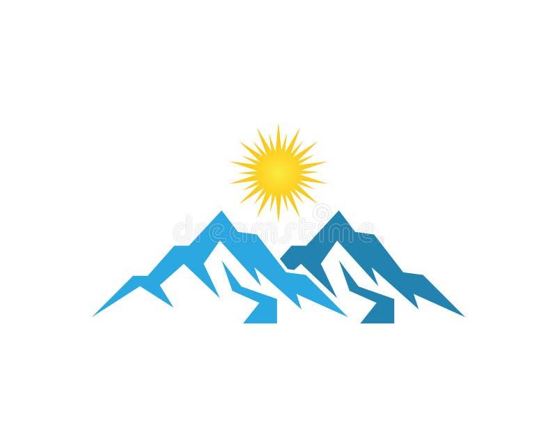 Molde do vetor do logotipo da montanha de Natuire ilustração royalty free
