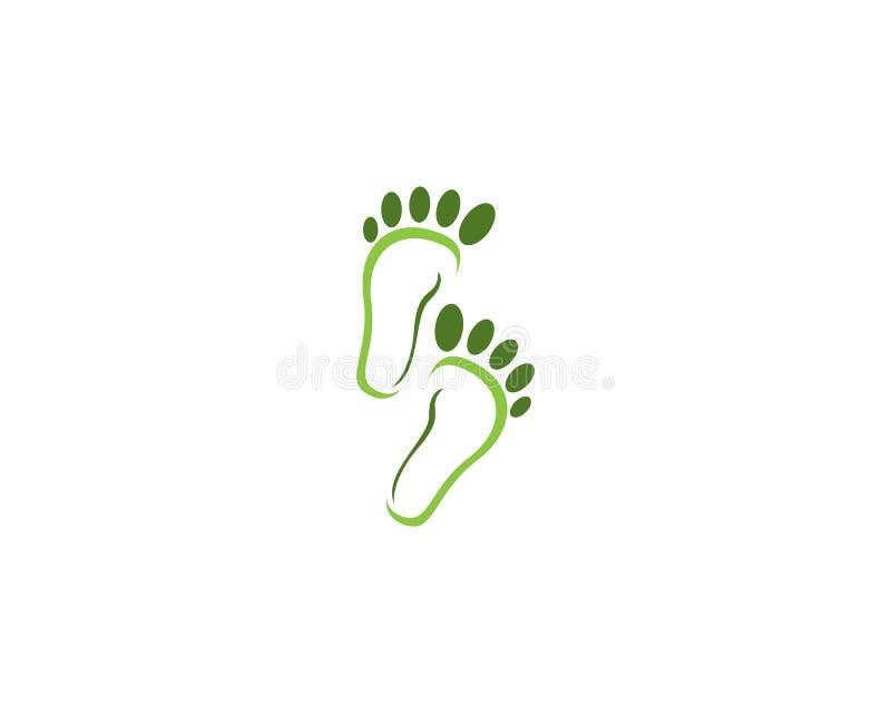 Molde do vetor do logotipo da saúde do pé ilustração royalty free