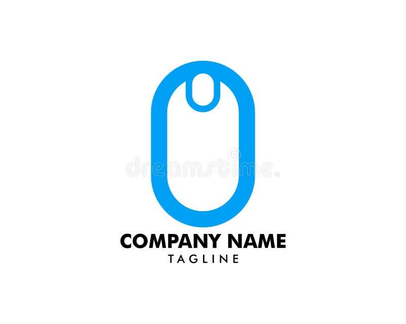 Molde do vetor do logotipo do rato do computador ilustração royalty free