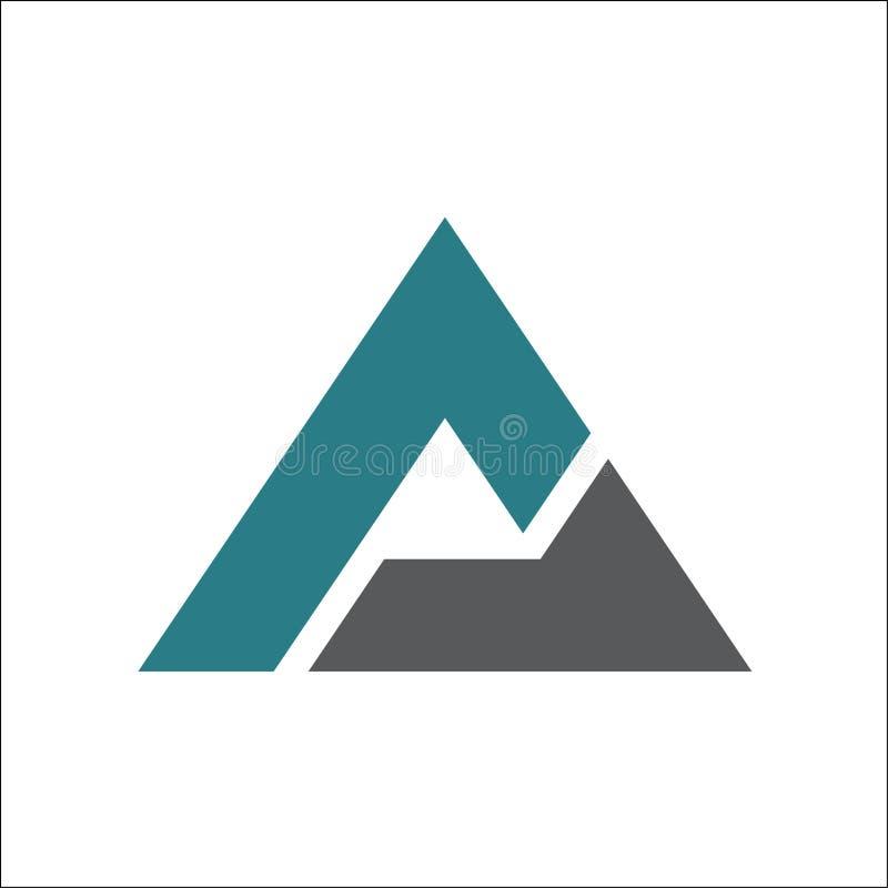 Molde do vetor do logotipo do triângulo A ilustração do vetor