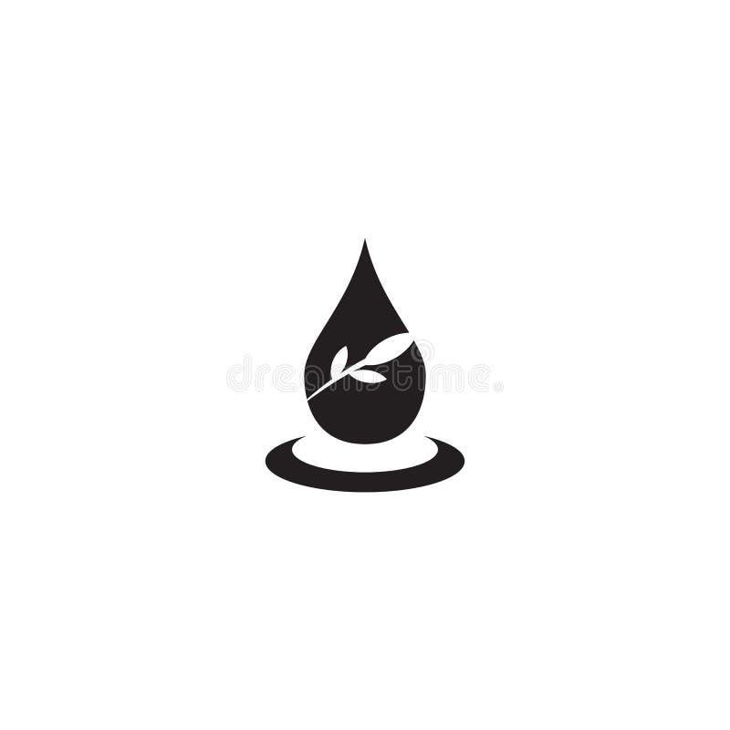 Molde do vetor do projeto do ícone do logotipo do azeite ilustração royalty free